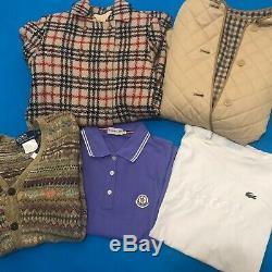 26x Womens Designer Vintage Wholesale Bundle BURBERRY MONCLER VERSACE HILFIGER