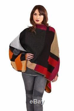 40 Wholesale Bundle Womens Cape Shawl Outwear Wrap Cloak One Size Tarten Bulk UK