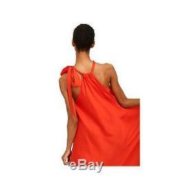 Essentiel Antwerp Woman Long Dress Orange Smooth Dress Ts08
