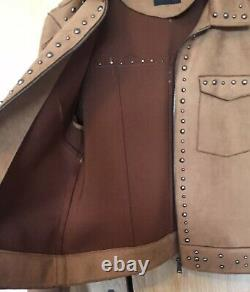 GUESS Job Lot Bundle Suede Effect Studded Coat Size 12 Leather Chrissy Boots Top