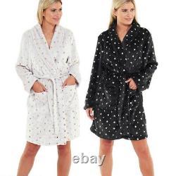 Job Lot Car Booter Wholesale Bundle Ladies Fleece Star Print Gown Pk 12 Grey Blk