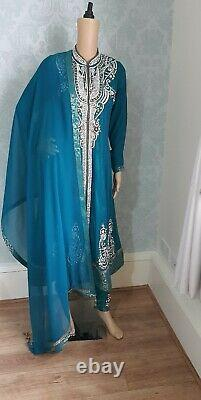 Ladies pakistani indian wedding Party Special Occasion Clothes anarkali dress