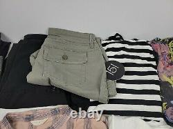 Lot Of 21 Wholesale Womens Clothing Resale Resller Bundle New Used Tops Bottoms
