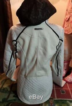 Lululemon Bundle Up 8 Down Fleece Ivory Black Laceoflage Covertable Coat Jacket