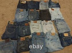 Mens Lee Jeans Mixed Denim Bundle Joblot X18
