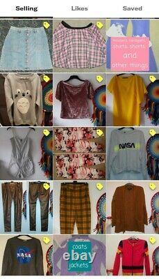 My Depop Shop Contents Joblot Vintage Clothing Reseller Bundle Items Etsy