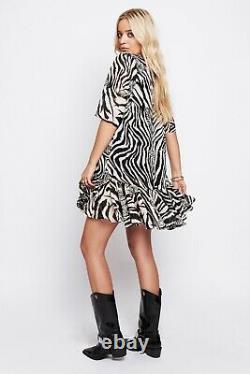 NEW Black & White Star Print Dresses Black & Cream Zebra Drop Waist Dress Bundle