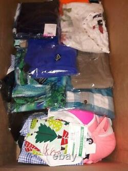 NWT Clothing Lot of 59 Pcs Wholesale Reseller Bundle Men, Women, Kids, Baby