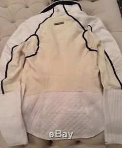 NWT Lululemon Run Bundle Up Jacket Sz 4 Reflective White/Polar Cream