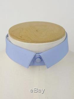 PRADA F/W 2008 RUNWAY Light Blue Cotton Narrow Detachable Collar IT39/US15.5