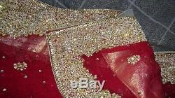 Pakistani/Indian Wedding dress Red and Gold