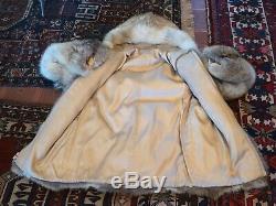 Pelliccia DI Coyote Fur Bomber Pelz Fourrure