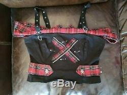 Punk, goth, rocker top, dress, shorts and corset bundle