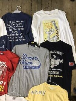 Vintage 1980s 1990s Print Tshirt Joblot Wholesale Bundle