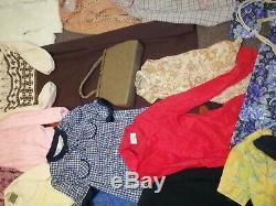 Vintage 60s 70s 80s Job lot bundle wholesale clothes dresses jackets coats tops