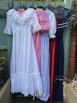 Vintage 70s Wholesale Dresses Iob Lot Bundle x 5