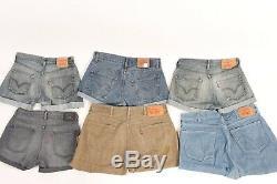 Vintage Levis Turned Up Denim Shorts Womens Job Lot Bundle Wholesale x40 -Lot440