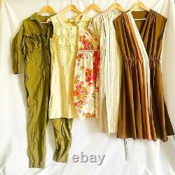 Vintage Wholesale Dresses x 30 Mixed Grade 70s 80s 90s Bundle Dress Job Lot 1