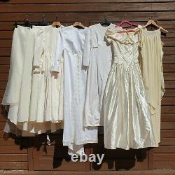 Vintage Wholesale Wedding Dress Bridal Joblot Bundle Inc. 1960s 1970s 1980s