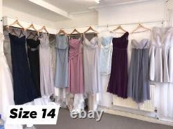 WHOLESALE JOBLOT BUNDLE OF x70 EX SAMPLE BRIDESMAID/ FORMAL DRESSES NEW uk6-18