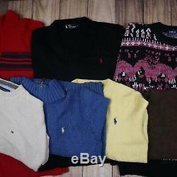 WHOLESALE JOBLOT Tops Bundle Sweaters Lacoste Ralph Lauren etc X23