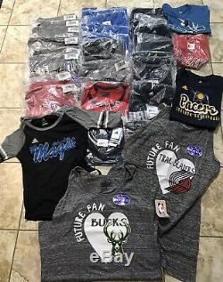 Wholesale 31 NBA T shirt Lot Graphic NEW NWT Women/Men/Youth Fan Clothing Bundle