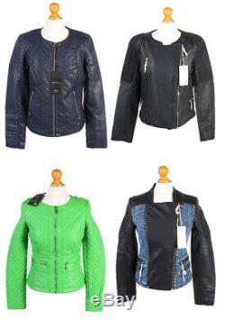 Women Biker Jackets PU Job Lot Bundle Wholesale x14 Pieces -Lot384