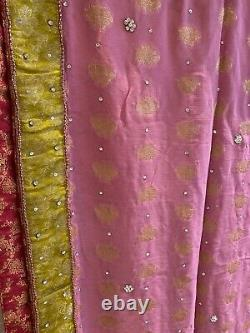 Womens Asian Pakistani suit Clothes Salwar Kameez Unstitched