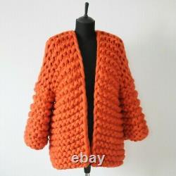 Womens Knit Cardigan Size 8-12 handmade Job Lot closure Sale Clearance Bundle