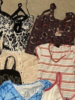 Womens clothing bundle Y2k Aesthetic Depop Resell Wholesale 12 Tops Size Ranges