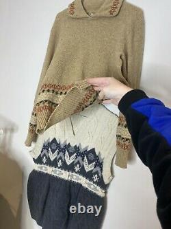 X20 Bundle Vintage Knitted Jumpers Mens Womans Clothing Resell Wholesale