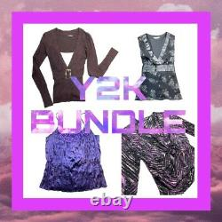 Y2K 2000s Bundle Job Lot 16 Items Wholesale Resell Depop S-XL Clothing Bundle