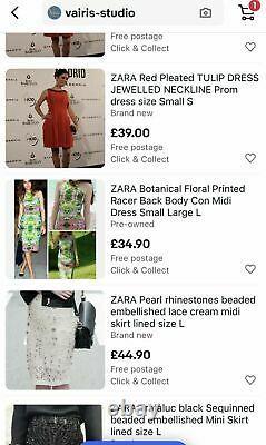 ZARA wholesale job lot over 600pcs mixed stock Clothing Dress Top bags shoes